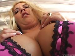 MILF with huge boobs gets fucked in her hairy pussy