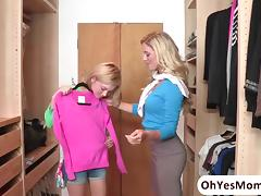 Hot and petite Dakota Skye totally seduced by MILF Cherie Deville