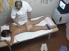 Horny Asian female stretches hairy nub in massage parlor dvd 06 porn video