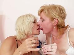 Two slutty mature lesbians enjoy licking each other's cunts