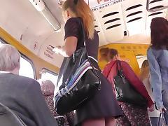 Bus, Ass, Beauty, Bus, Skirt, Upskirt