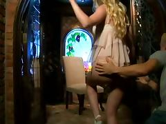 Beautiful Blond Babe With Hot Ass Riding Cock On Chair