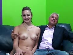 Adorable Babe Gets Fucked Roughly In Her Shaved Pussy