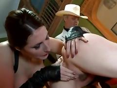 British strumpets Paige and Sam three-some