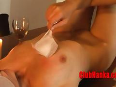 HOT wax and ice at the same time on a luscious MILF body porn video