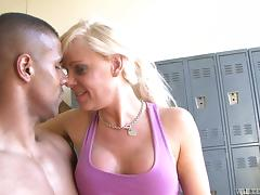 Joanna Jet the nasty tranny gets ass fucked by Black guy