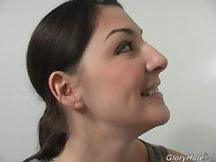 Hot Tattooed Brunette Sucking Goloryhole Dong And Swallowing Sperm