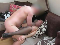 Busty brunette mom named Devon banged at the audition