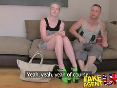 FakeAgentUK: Threesome sex roulette on the casting couch