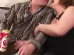 Hairy Mature Takes the Cum in Her Clam