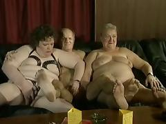 Granny Orgy, German, Grandpa, Granny, Group, Mature