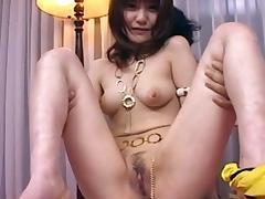 Japanese babe Misuzu Imai poke her puss