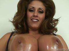 Eva Notty the huge breasted MILF gets titty fucked