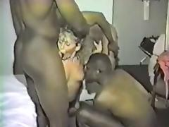 Blacks gangbang a slutwife