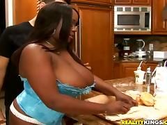 Steamy Simone Staxxx Has Interracial Sex In The Kitchen