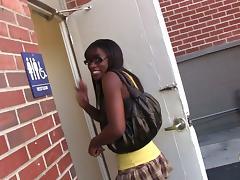 Black Teen, Black, Blowjob, Bra, Close Up, Ebony