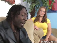 Busty Hoe With Huge Natural Boobs Gets Gangbanged By Few Black Dudes
