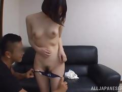 Japanese skank gets her vagina fingered and fucked deep