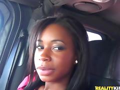 Nice ebony girl has an interracial sex for cash in POV video