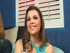 Delightful Katie Thomas rides BCC and gets her mouth filled