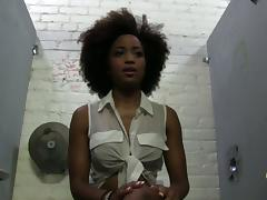 Ebony Solo Model Backstage at a Gloryhole Porn Shoot