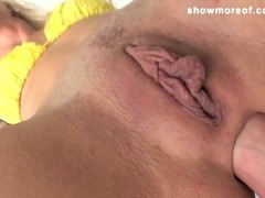 Dude puts his big cock in his girlfriend vergin ass