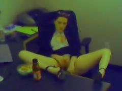 Voyeur, Babe, Hardcore, Masturbation, Office, Solo