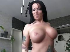 Amateur video with a busty german babe
