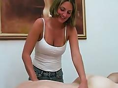 She will be rubbing his cock till it cumms