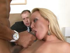 Bedroom, Bedroom, Blonde, Blowjob, Cuckold, Facial