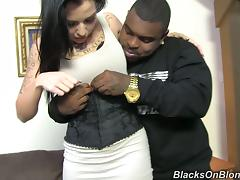Pretty Aria Aspen Has Wild Interracial Sex With A Black Guy