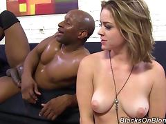 Exquisite Sierra Sanders Serves An Interracial Blowjob