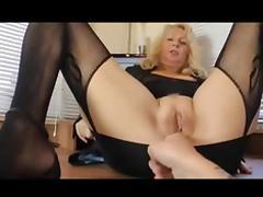 Amateur - Blond Mature Fat Pussy Fuck & Creampie