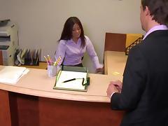 Hot Asian Girl Fucks Her Boss Doggystyle