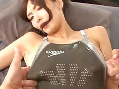 Suitaku Nono swimsuit oil japanese big tits