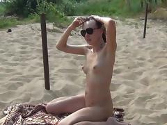 Beach, Babe, Beach, Doggystyle, Glasses, Nudist