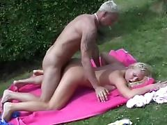 American blonde Josephine is sucking a hard dong