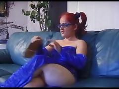 Redhaired midget sucking and fucking