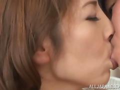 Arousing Japanese milf Chieri Matsunaga gets hardcore dick ride