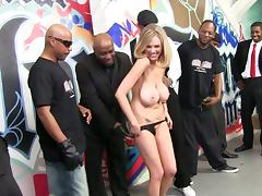 Striking Jamie Jackson Gets Gangbanged By Black Guys
