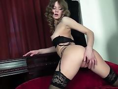 Patricia stripping and masturbating porn video