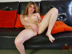 Asian Callie Lavalley sticks sex toy porn video