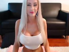 Busty Blonde Fashion Show On Cam