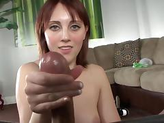 Redhead mils is getting sperm in her hand