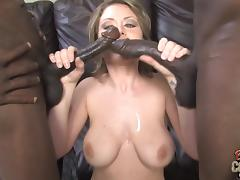 Fantastic Velicity Von Gets DP By Two Big Black Cocks