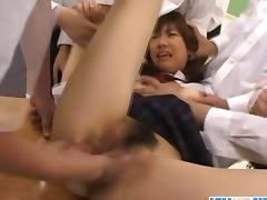 Asian girl got her pussy played with dirty fingers