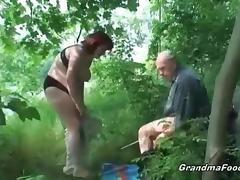 Hot fuck in the woods porn video