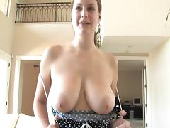 Exquisite Danielle Shows Her Big Tits In An Amateur Video
