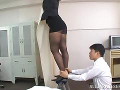 Office, Asian, Blowjob, Boss, Couple, Cowgirl
