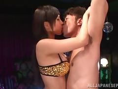 Kotori Hanagara naughty Asian stripper shows off porn video